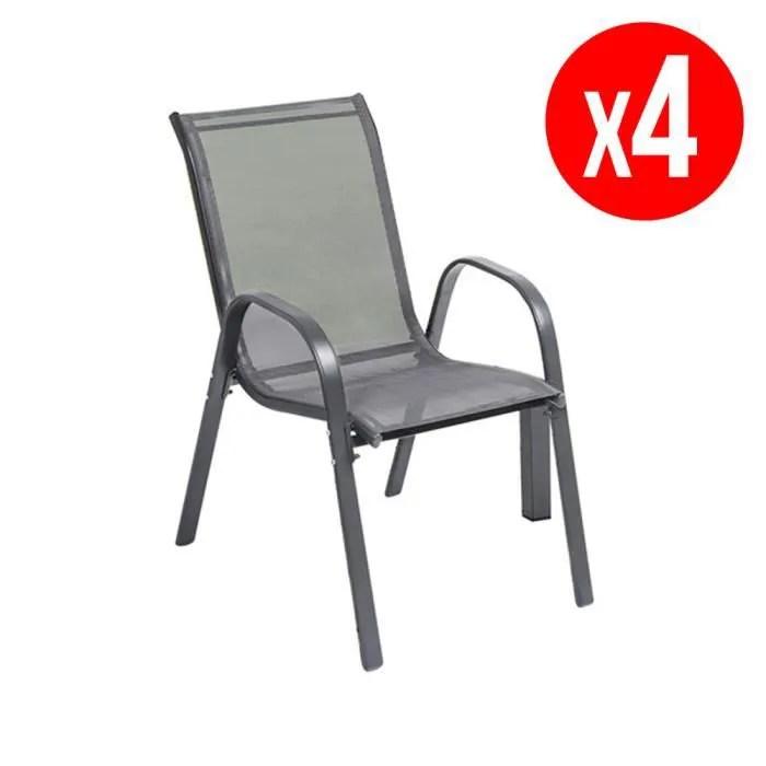 vente fauteuil jardin pack de 4 chaises