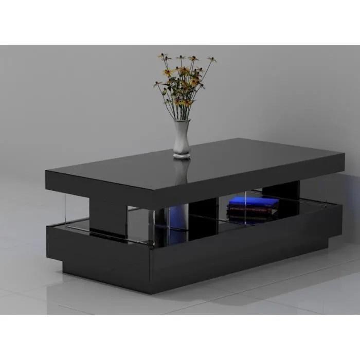 table basse fabio mdf laque noir