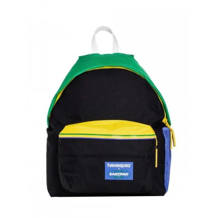 sac a dos eastpack padded pak r ref e00620 e08 couleur noir vert jaune bleu details grand compartiment principal