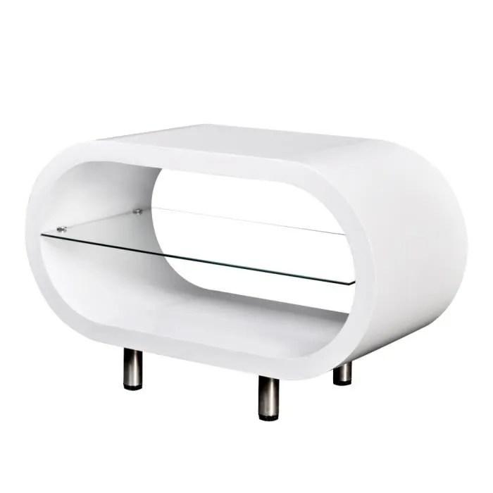 table basse meuble tv ovale de salon