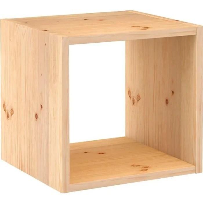 Cube De Rangement Pin Masif 36 2 X 36 2 X 33 Cm Bois Brut Achat Vente Casier Pour Meuble Cube De Rangement Pin Masif 36 Soldes Sur Cdiscount Des Le 20 Janvier Cdiscount