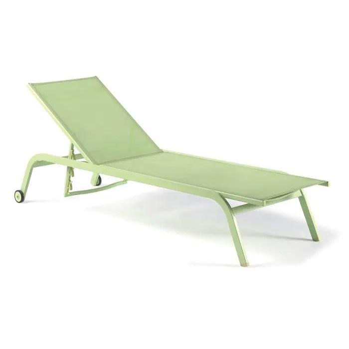 bain de soleil aluminium et textilene