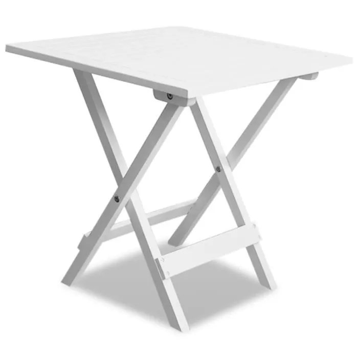 table de jardin pliante en bois tables jardin d appoint 46x46x47 cm brun acacia blanc