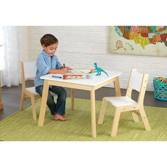 ensemble table et 2 chaises design en bois pour enfant chambre