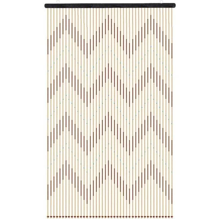 neufu rideau de porte perles en bois 41 lignes 90x