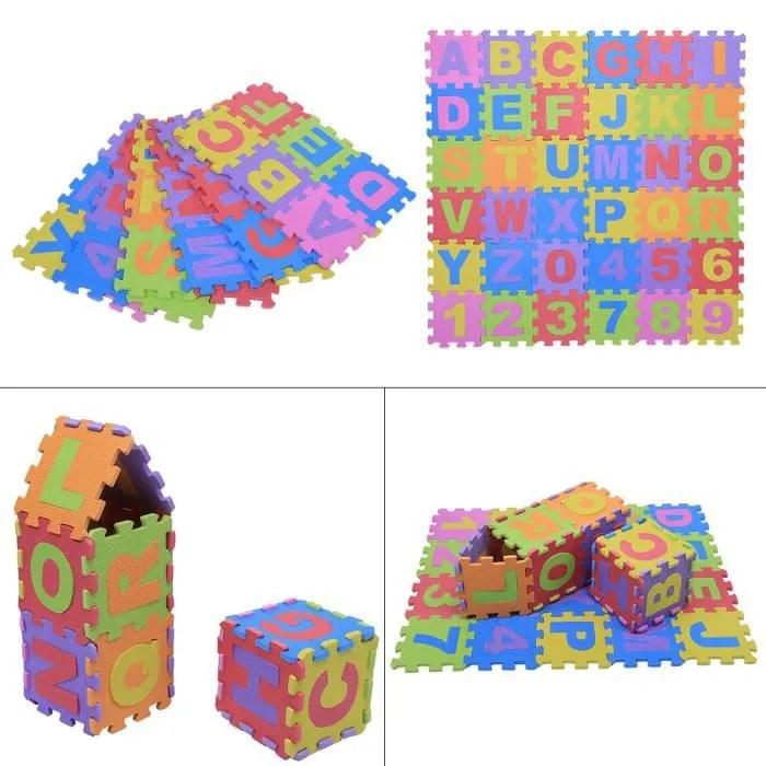tapis de jeu enfant bebe ramper mat lettre numer