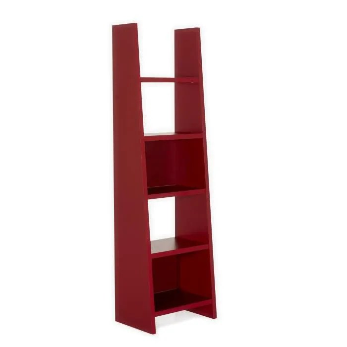 murale swag etagere rouge 5 tablettes