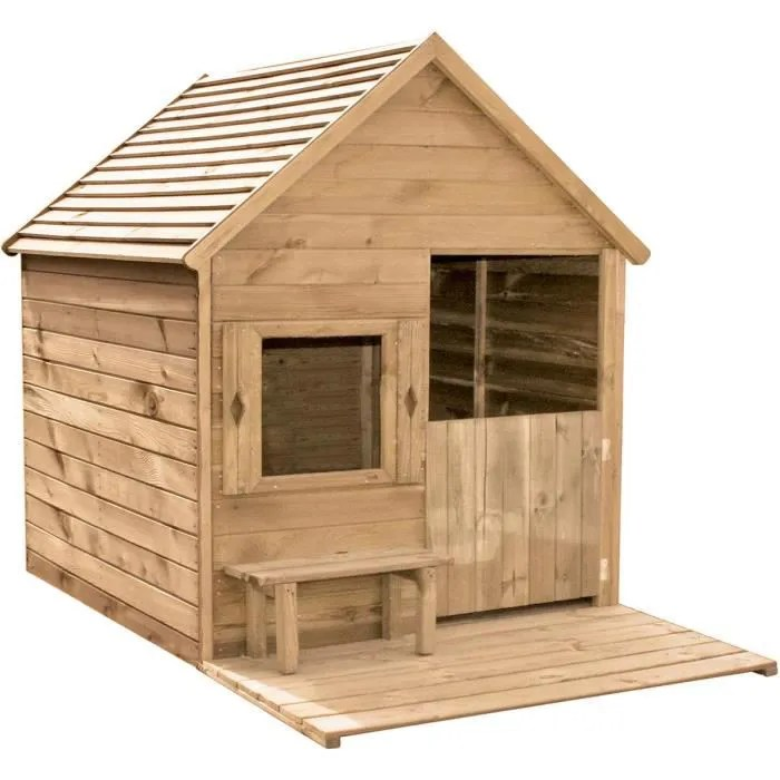 cabane en bois pour enfant heidi l 1 23 x l