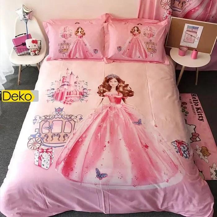 Ideko Housse De Couette Parure De Lit Disney Princesses 220x240 2personnes 100 Coton Achat Vente Housse De Couette Seule Cdiscount