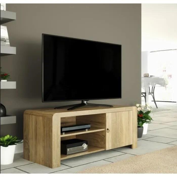 meuble tv chene blanchi pour ecrans