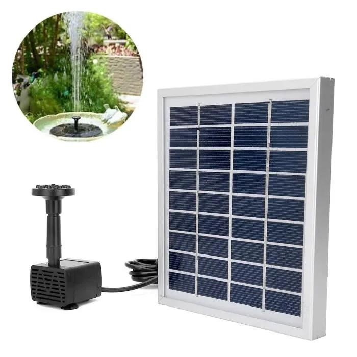 9v 2 0w kit de pompe de fontaine solaire pour pays