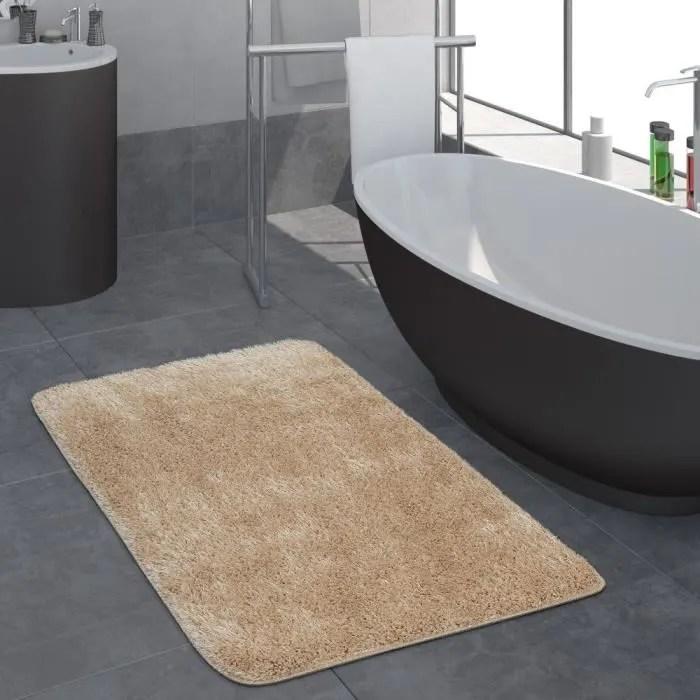 tapis salle de bain moderne poils longs uni tapis