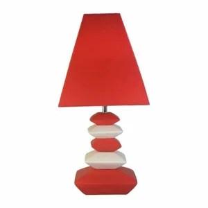 lampe de salon rouge