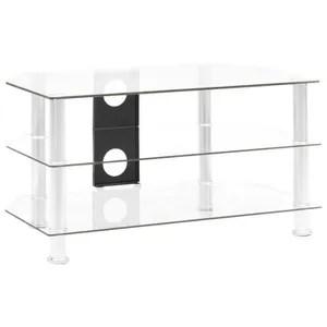 meuble tv hifi verre aluminium