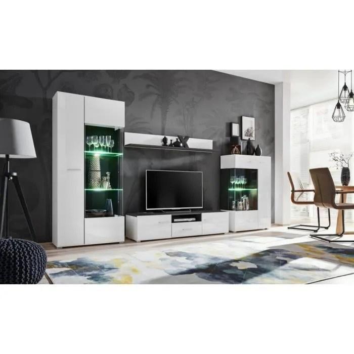 ensemble meuble tv capone noir mat