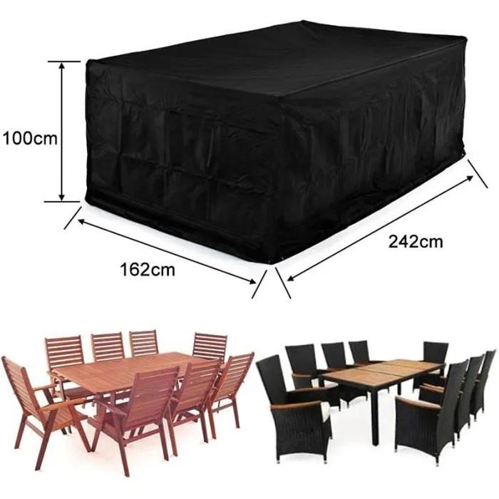 grande housse de protection haute qualite table couverture oxford polyester pour meubles de jardin patio