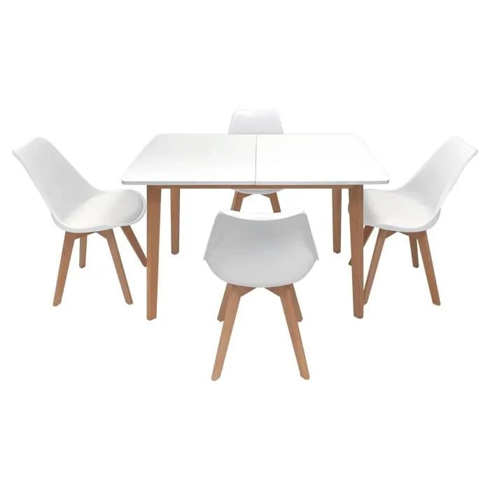 ensemble table extensible 120 160cm et 4 chaises s