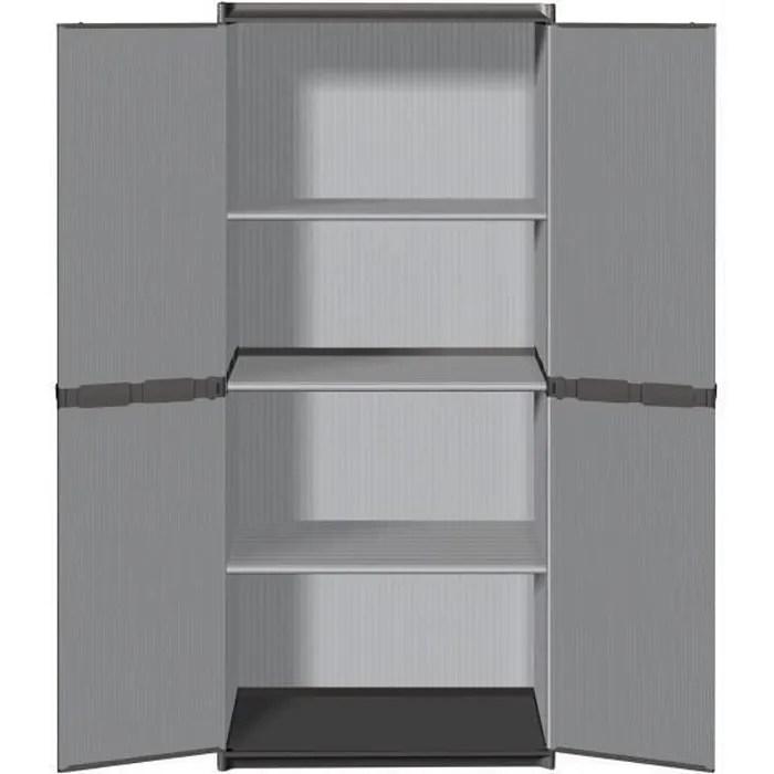 tood armoire de rangement haute en resine 3 tablet