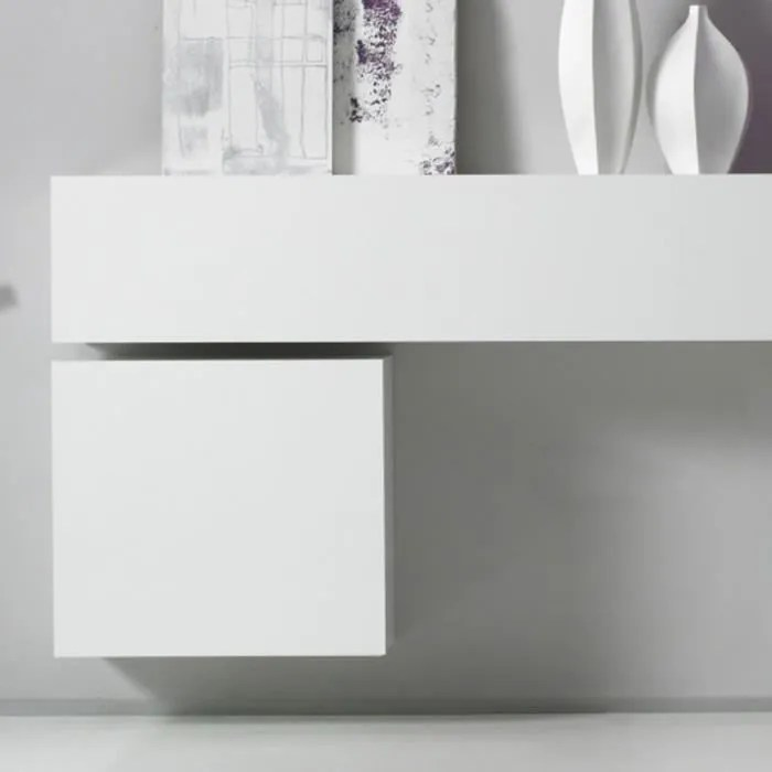 cube mural de rangement blanc laque