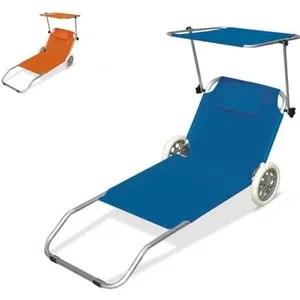 chaise longue lit de plage pliant bain
