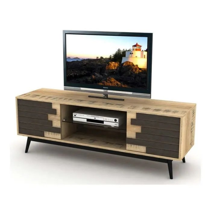 meuble tv 2 portes battantes style