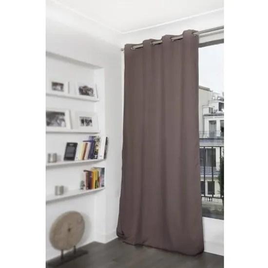 rideau grande hauteur phonique thermique et occultant moondream poivre 145 x 300 cm