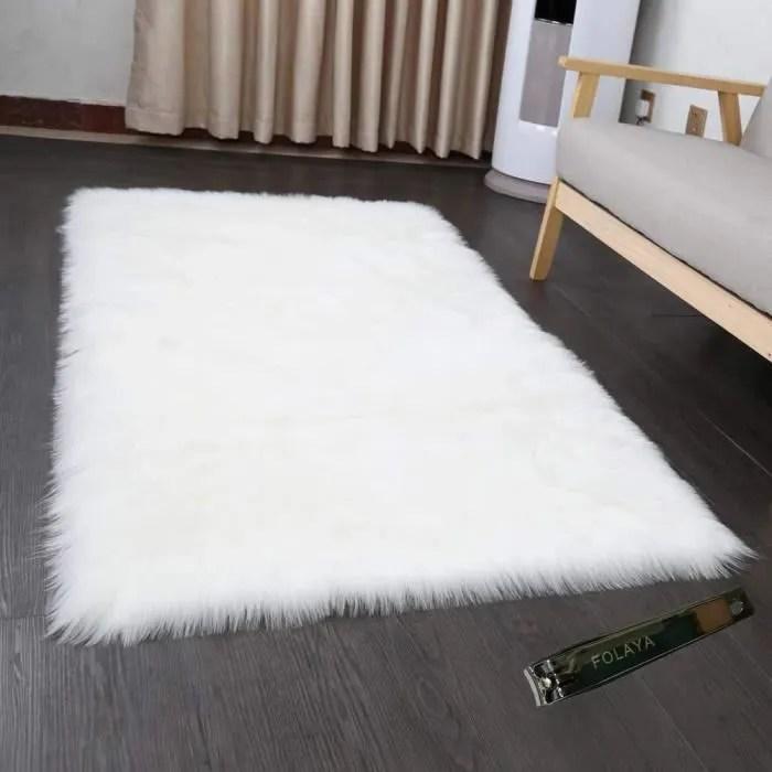 tapis 80 x 150 cm faux peau de mouton imitation to
