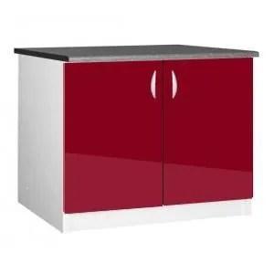 meuble cuisine bas 120 cm sous evier oxane