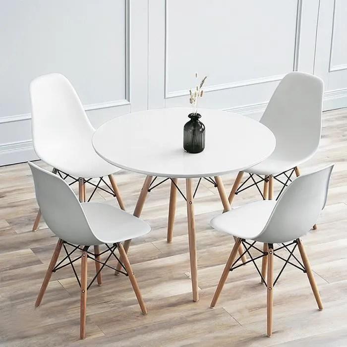 70 70 72cm table de salle a manger table de cuisine blanche ronde pour 2 4 personnes style moderne scandinave
