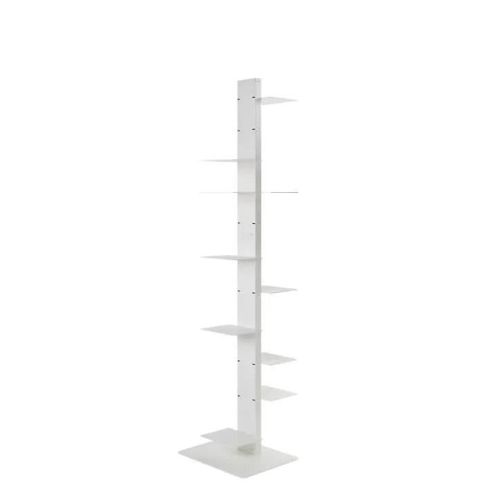 colonne bibliotheque en acier blanc h 170