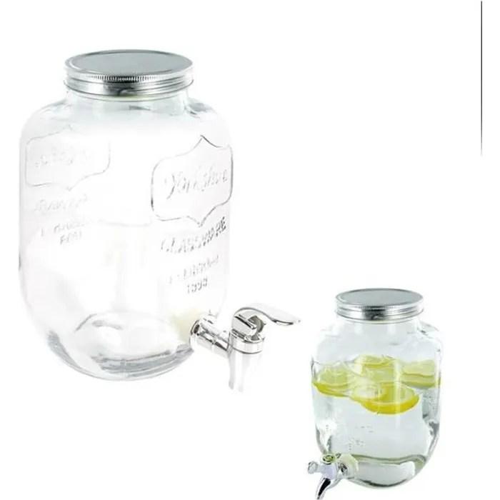 fontaine boisson verre 4 litres