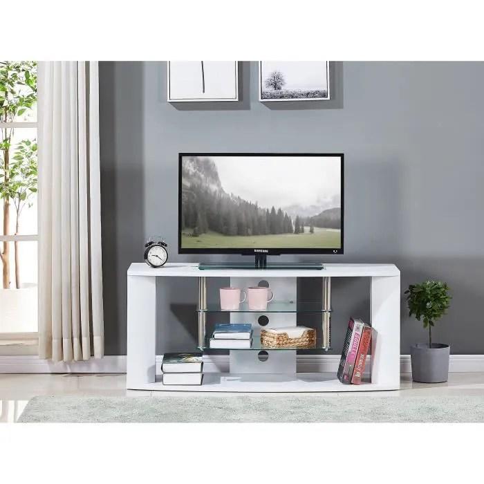 meuble tv en bois decor sonoma blanc