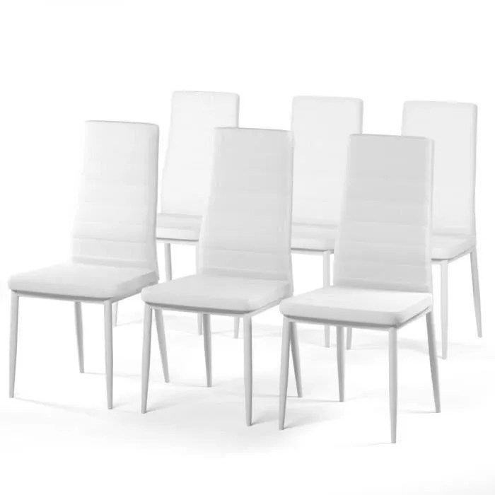 lot 6 chaises blanches design