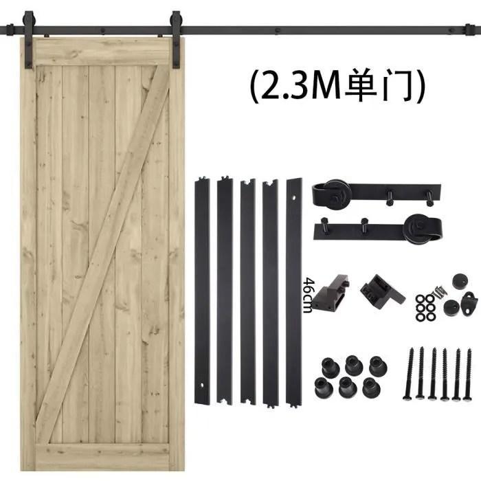 230cm poulie de rail porte suspendu rail porte coulissante pour porte suspendue en bois
