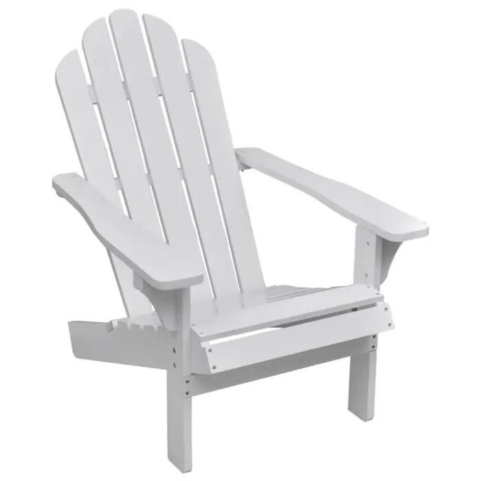 chaise de jardin bois blanc dba