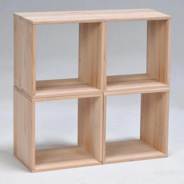 etagere cube en hetre massif