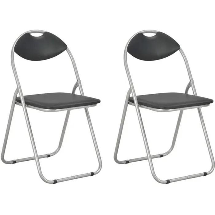 chaises pliantes noir