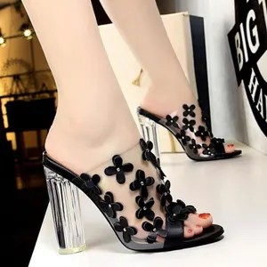 chaussure femme transparente