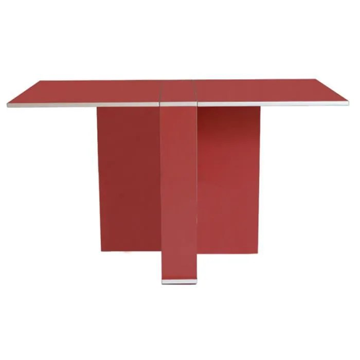 table cuisine amovible rouge achat