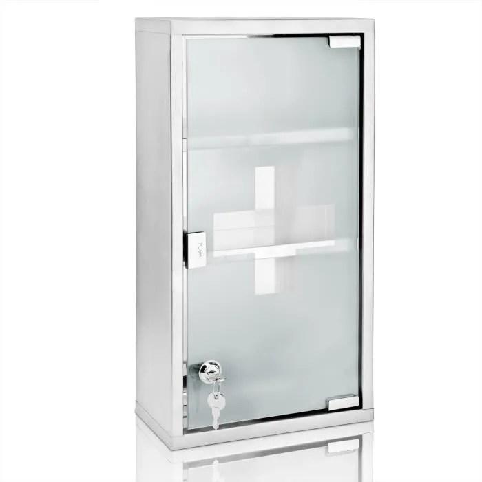 armoire a pharmacie armoire a medicaments 3 compartiments premier secours avec cles grand