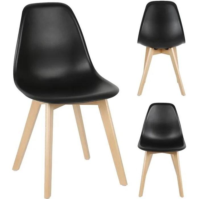 4 chaise lorenzo design scandinave noir salle a