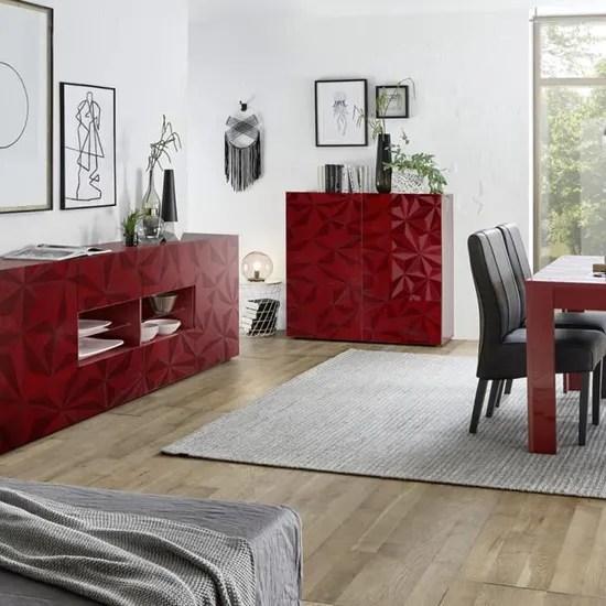 https www cdiscount com maison meubles mobilier buffet haut rouge laque design avec serigraphies p f 117600902 auc3665150047724 html