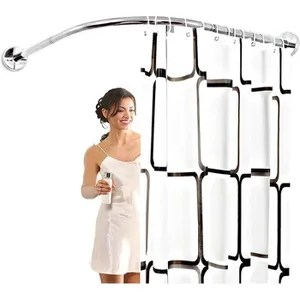 support barre de rideau douche