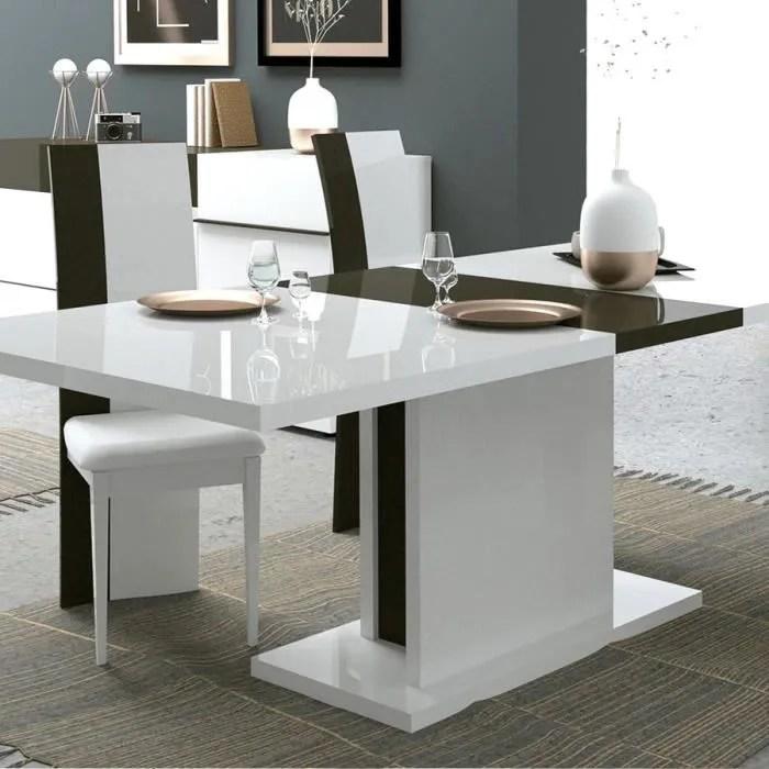 table extensible blanche et grise