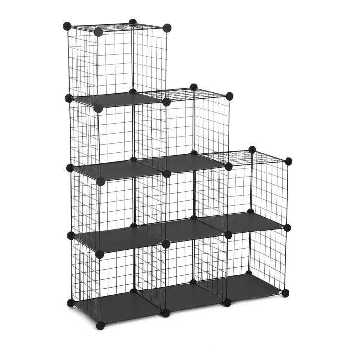 etagere cube modulable en metal