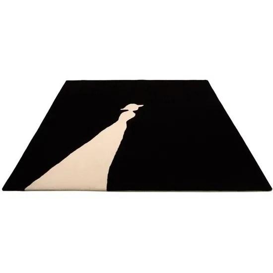 tapis carre lady 3 t noir 170x170 par
