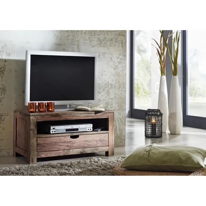 petit meuble tv bois massif de palissandre huile