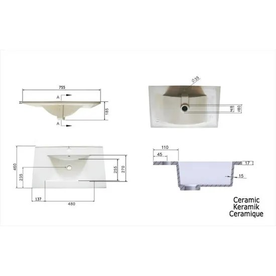 https www cdiscount com maison meubles mobilier meuble salle de bain casa infinity 750 decor chene f 11760040104 auc4250524161732 html