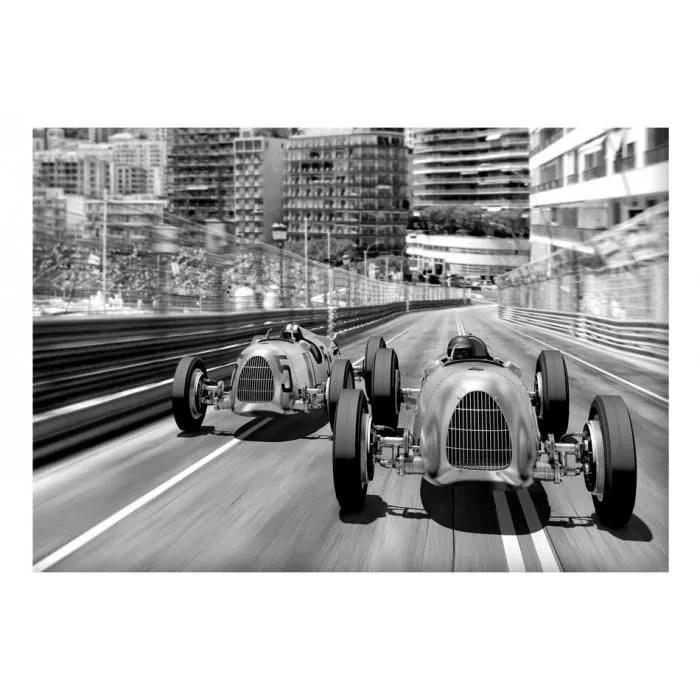 taille 200x140 moderne papier peint retro voitures vintage noir et blanc motorisation