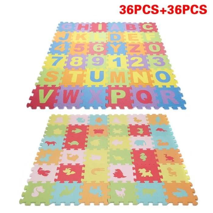 puzzle tapis mousse bebe alphabet 26 lettres 10